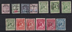 NIGER COAST PROTECTORATE QV selection of 13 stamps - mounted mint/MNG & Used