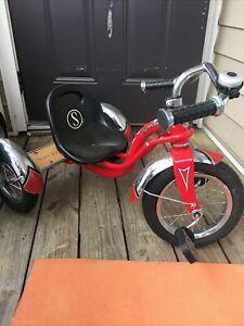 Schwinn Retro Kids Roadster Tricycle Red 3 Wheeler
