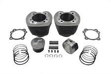 "V-Twin USA 95"" Big Bore Twin Cam Natural Cylinder 10.25:1 Piston Kit Harley BT"