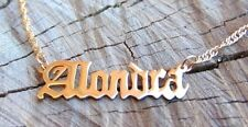 Personalized Name Necklace 24K Gold Plated. Custom Name Necklace Custom Jewelry.