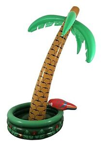 KINREX Inflatable Palm Tree Cooler, Beach & Pool Theme Party Decorations - 5' H