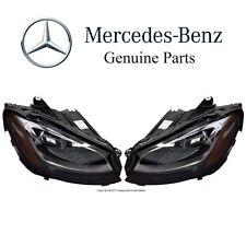 Mercedes W205 C205 C-Class Turbo Pair Set of 2 Halogen Headlamp Assemblies OES