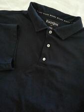 FOOTJOY Men's Short Sleeve Navy Blue Polo Shirt Size XL Polyester FJ EUC