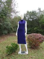 THE LIMITED Purple Ribbed Sleeveless Turtle Neck Sweater Dress-Size M