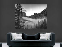MISTY MOUNTAINS  USA PARK FOREST   GIANT WALL POSTER ART PICTURE PRINT LARGE