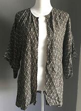 Fab COUNTRY ROAD Black & Khaki Blouse/Jacket Size S (10)