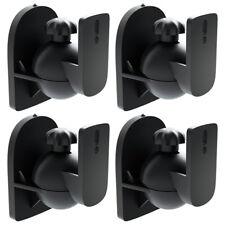 deleyCon 4x Universal Lautsprecher Wandhalterung Halterung Boxen Halter Schwenk