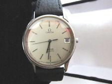 Vintage Omega De Ville Date Solid Stainless Sapphire Crystal Quartz Men's Watch