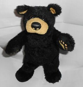 "Vintage Big Sky Carvers BEARFOOTS 12"" Black Bear Plush Stuffed Jeff Fleming 1996"