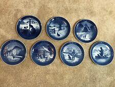 Lot of 7 Royal Copenhagen Christmas Plates 1970's