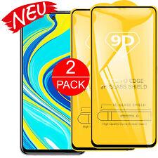 2 x Panzerfolie für Für Xiaomi Redmi Note 9 / Pro Full Cover echt Glas Schutz