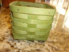 New ListingLongaberger Small Teasoon Peg Basket Green Weave