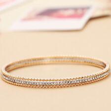 14K Gold Platinum 2 Tones Plated Elegant Stylish Bangle Bracelet
