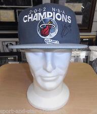 LeBron James Miami Heat 2012 Champions SIGNED AUTOGRAPH Snapback Cap AFTAL UACC