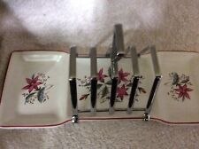 VINTAGE MIDWINTER STYLECRAFT 4 SLICE TOAST RACK WITH BUTTER & JAM TRAYS FASHION