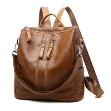 Women Girls School Backpack Travel PU Leather Handbag Rucksack Shoulder Bag
