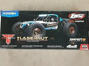 Losi Lasernut U4 1/10 4WD Brushless RTR Rock Racer Black w/ Radio & Smart ESC