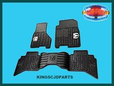 Floor Mats Front & Rear All Weather Rubber Slush Dodge Ram Crew Cab 2013- 2017