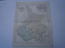 Carte 19° 1852  couleur atlas Malte brun Département Hautes Pyrénnées Tarbes