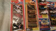 Play Power Lot of 9--5 Car Packs. Military, Emergency, Stock Car Racers, Diecast