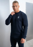 Gym King Mens Overhead Pullover Crew Neck Sweatshirt Sweater Jumper Navy Blue