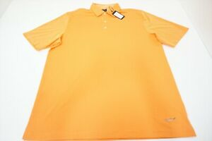 New Greg Norman Golf Play Dry Polo Mens Size Large Apricot Orange 524A 00875275