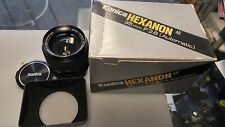 BRAND NEW Konica Hexanon AR 35mm F2.8  Case Hood Box Manual