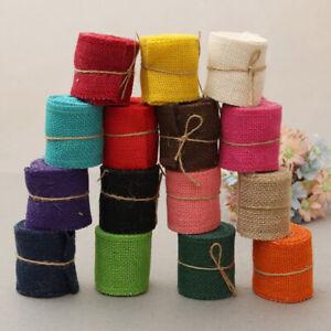 2M Natural Jute Burlap Ribbon Jute Fabric Hessian RibbonRustic DIY Wedding Party
