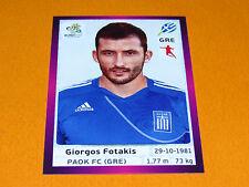 98 FOTAKIS HELLAS GRECE FOOTBALL PANINI UEFA EURO 2012