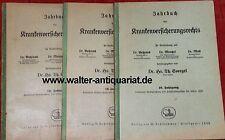 3x Jahrbuch des Krankenversicherungsrechts 1929/1930/1932 Krankenversicherung