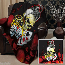 FAUCHEUSE crâne Design Doux Couverture polaire Housse sofa lit couverture