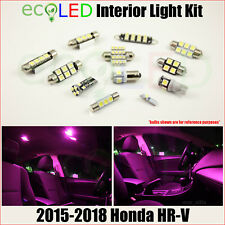 For 2015-2018 Honda HRV PINK Interior LED Light Accessories Replacement Kit 12PC