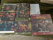 THE OTHERS 7 SINS board game plus expansions and Apocalypse New Sealed CMON