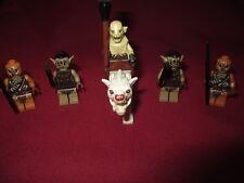 LEGO LOTR/HOBBIT Minifigures Lot. Azog, Warg, Gundabad & Mordor Orcs + Weapons
