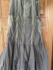 Regine Green Long Ruffle Skirt Size 12