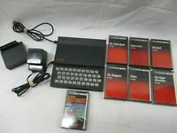Sinclair ZX81 Computer w/ 16K Ram Pack & 7 Software Games - UNTESTED. (JR)