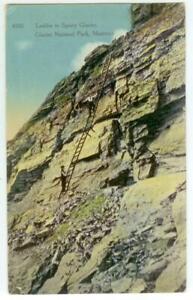 c1915 Glacier National Park - Ladder to Sperry Glacier