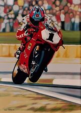 Carl Fogarty  48 x 66 cms  limited edition  Superbike  art print by Colin Carter