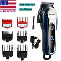 Barber Hair Clipper Professional Trimmer Cordless Electric Hair Cutting Machine