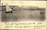 Alger Algier Algerien al-Dschazā'ir 1907 Vue générale prise du Port Hafen Ships