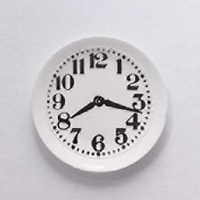 Streets Ahead Dolls House Accessory 1:12th Scale White Kitchen Clock D506 New