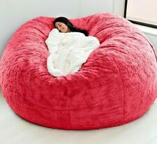 cover 7ft foam giant bean bag Microsuede  memory living room chair lazy sofa