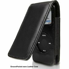 Pocket Leather Case for iPod Nano 2nd Generation - Black