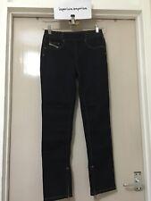 Girl's DIESEL LOKKET Bleu Foncé Jeans Pantalon Taille 14yrs