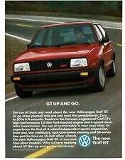 1987 VW Volkswagen GOLF GT Red 2-door Hatchback VTG PRINT AD