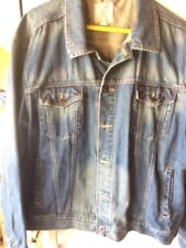 Men's Medium Wash Denim Trucker Jacket - Merona™ XXL.
