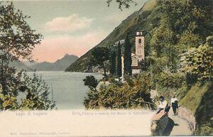 SWITZERLAND – Lago di Lugano Oria, Chiesa e Veduta sul Monte S. Salvatore – udb