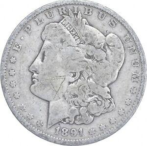 Early - 1891 Morgan Silver Dollar - 90% US Coin *882