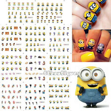 Large Despicable Me Yellow Minions Banana Water Nail Art Transfer Sticker Decal