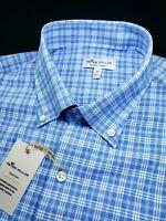 Peter Millar Crown Sport Performance Check Natural Touch Shirt $135 XL